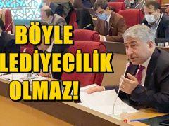 """CHP'Lİ AKŞAHİN """"BÖYLE BELEDİYECİLİK OLMAZ!"""" DEDİ!"""