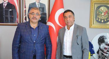 SEYİT ATEŞ'TEN MHP'Lİ BAŞKAN ÖZEL'E DOSTLUK ZİYARETİ